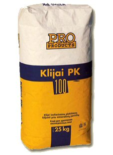 3Klijai izoliacinėms plokštėms klijuoti prie mineralinių paviršių Pro Fix 100