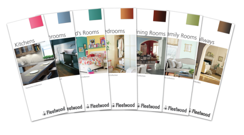 baldų dažų spalvų paletė